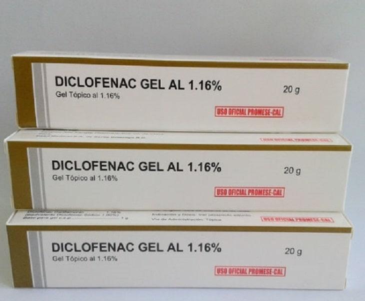 Thuốc gel Diclofenac giảm đau bề mặt