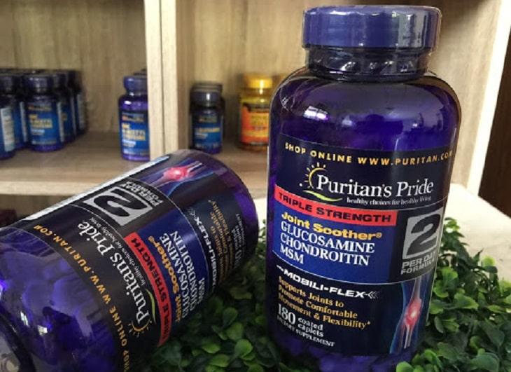 Sản phẩm nổi bật với sự kết hợp: Glucosamin, chondroitin, methylsulfonylmethane