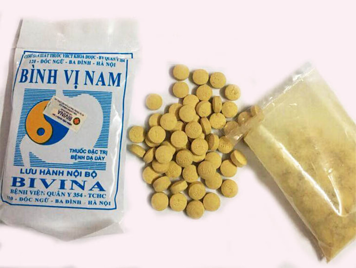Sản phẩm Bình Vị Nam của bệnh viện Quân Y 354 giúp giảm nhanh triệu chứng của đau dạ dày