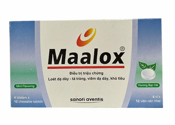 Thuốc dạ dày nhóm kháng H2 Maalox