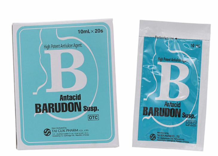 Barudon - thuốc ngoại trị viêm dạ dày tốt