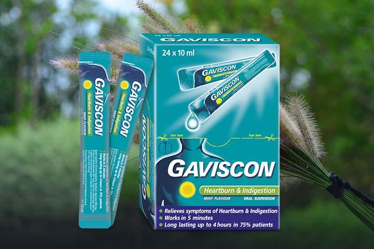 Gaviscon cải thiện triệu chứng đau, viêm loét dạ dày