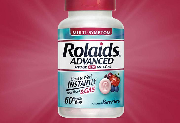 Rolaids Advanced Antacid thuốc đau bao tử