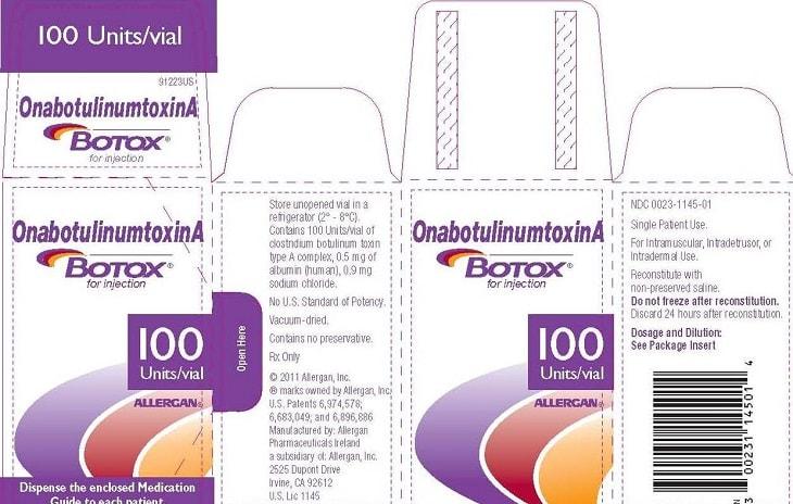 OnabotulinumtoxinA được chiết xuất từ vi khuẩn gây ngộ độc