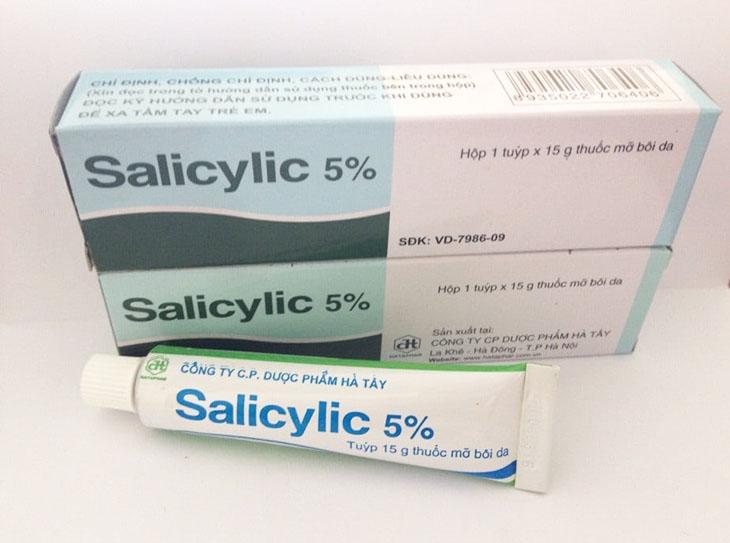 Thuốc trị chàm khô có chứa Acid Salicylic
