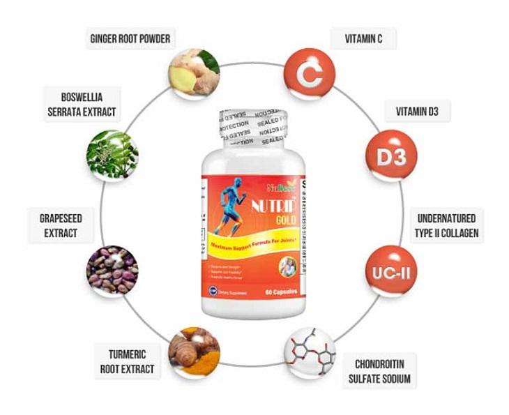 Nutrip Gold NuBest chứa các vitamin và khoáng chất giúp bảo vệ xương khớp một cách toàn diện