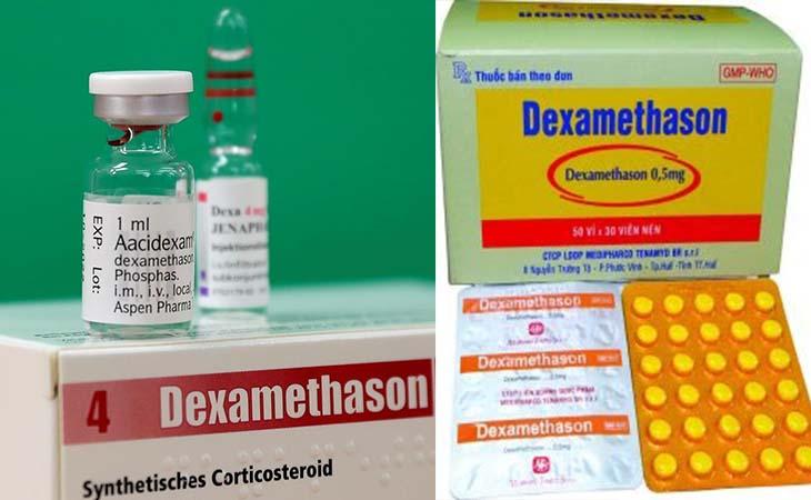 Dexamethasone là thuốc trị nổi mề đay được chỉ định cho bệnh nhân nặng