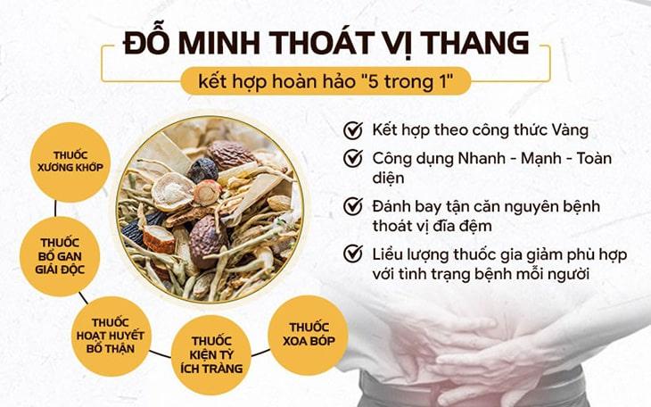 Bộ 5 bài thuốc chữa thoát vị đĩa đệm của Đỗ Minh Đường
