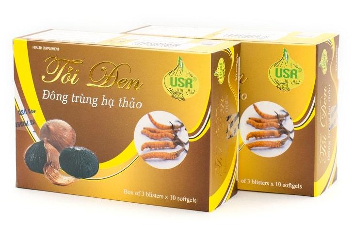 Tỏi đen đông trùng hạ thảo USR được sản xuất và nhập khẩu tại Mỹ