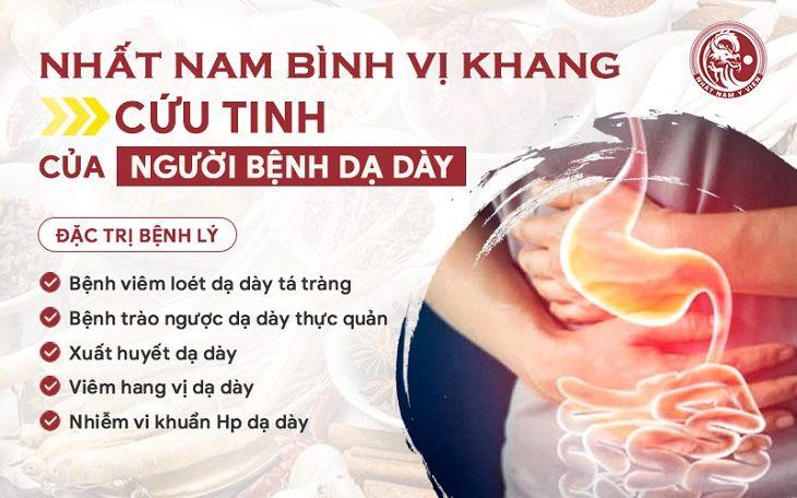 Nhất Nam Bình Vị Khang là giải pháp SỐ 1 trong điều trị trào ngược dạ dày từ Đông y