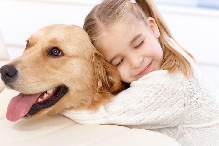Hạn chế để trẻ tiếp xúc với chó, mèo nếu bị dị ứng mề đay