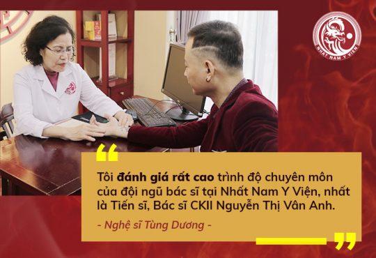 Nghệ sĩ Tùng Dương rất hài lòng và đánh giá rất cao chuyên môn vững vàng của bác sĩ Vân Anh