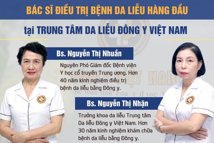 Trung tâm Da liễu Đông y Việt Nam hội tụ nhiều chuyên gia da liễu có uy tín