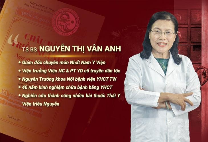 Bác sĩ Vân Anh có nhiều năm kinh nghiệm điều trị bệnh theo YHCT
