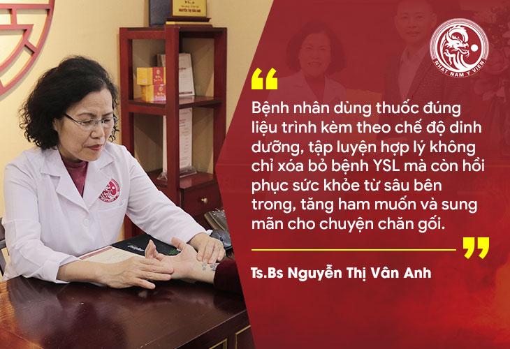 Bác sĩ Vân Anh đưa ra lời khuyên cho bệnh nhân yếu sinh lý
