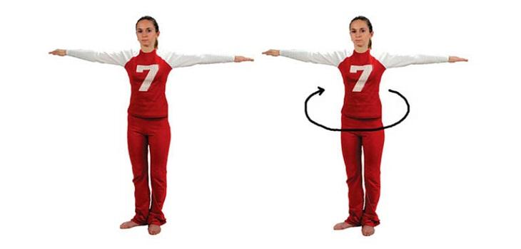 Bài tập thể dục vặn lưng