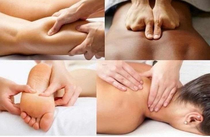 Thao tác massage cơ bản bao gồm: Xoa, bóp, lăn, day