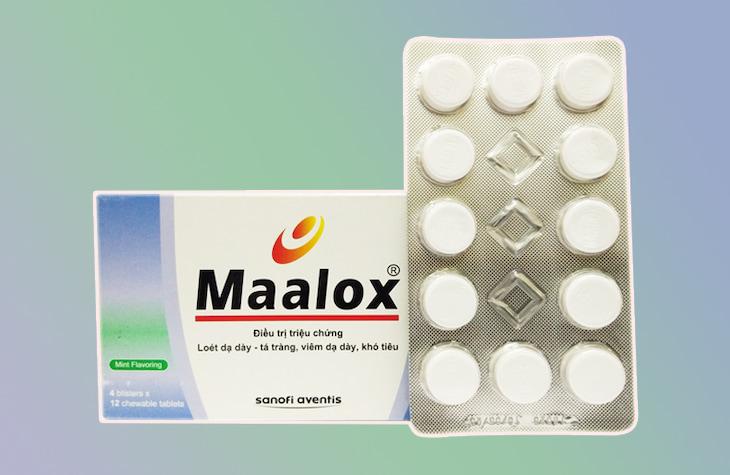 Maalox giúp trung hòa H+ và giảm axit dạ dày