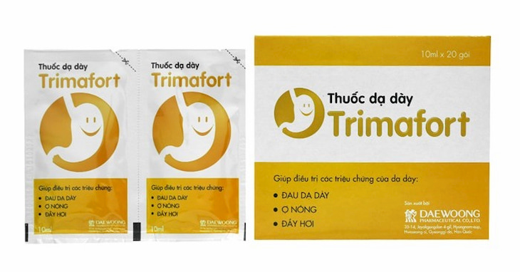 Trimafort kháng axit dựa trên cơ chế trung hòa H+ dư thừa trong dạ dày