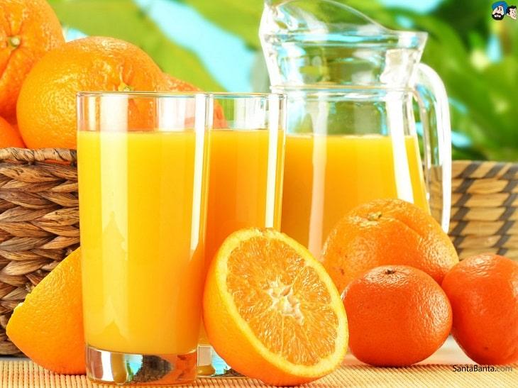 Nước cam tốt nhưng nên uống ở lượng vừa đủ