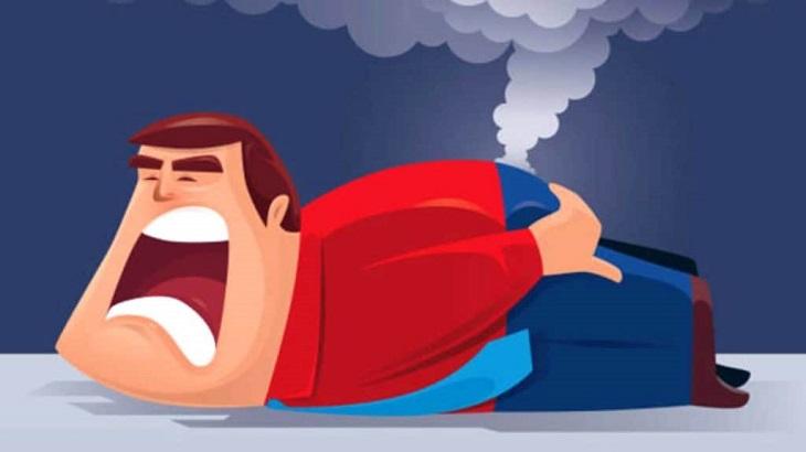 Xì hơi nhưng không có mùi chủ yếu là do bạn ăn nhiều thực phẩm khó tiêu