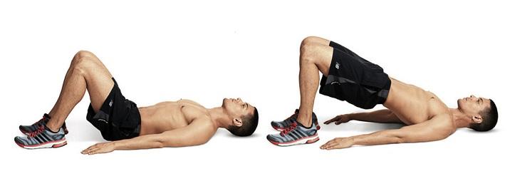 Người bệnh có thể thực hiện bài tập nâng hông