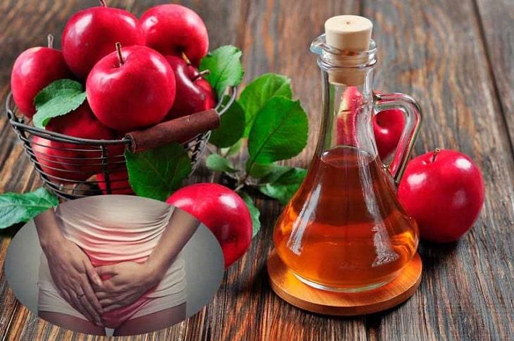 Dấm táo có tác dụng tốt trong điều trị nấm candida