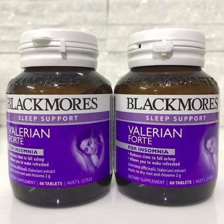 Blackmores Valerian Forte 2000mg với thành phần chính là Valerian sẽ giúp an thần, điều hòa tâm trạng và giấc ngủ