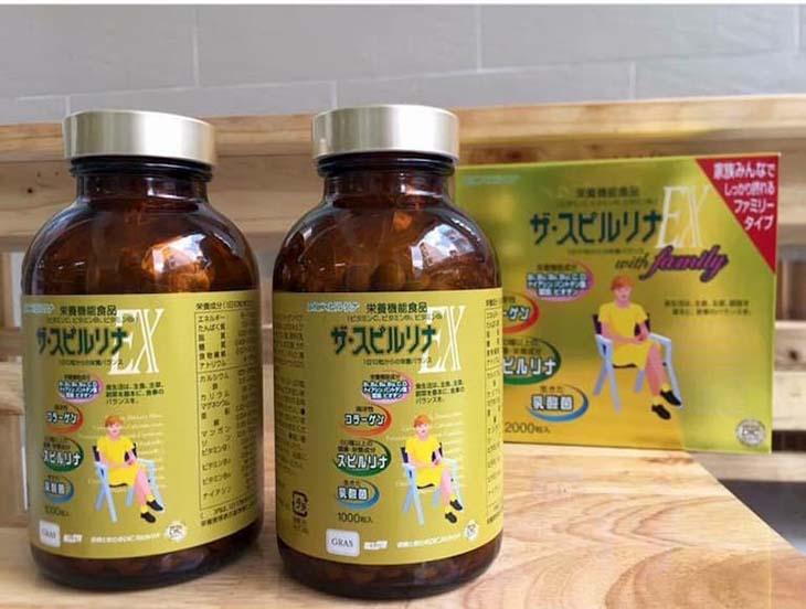 Trị đau đầu gối Nhật Bản có thành phần chính là tảo xoắn tự nhiên