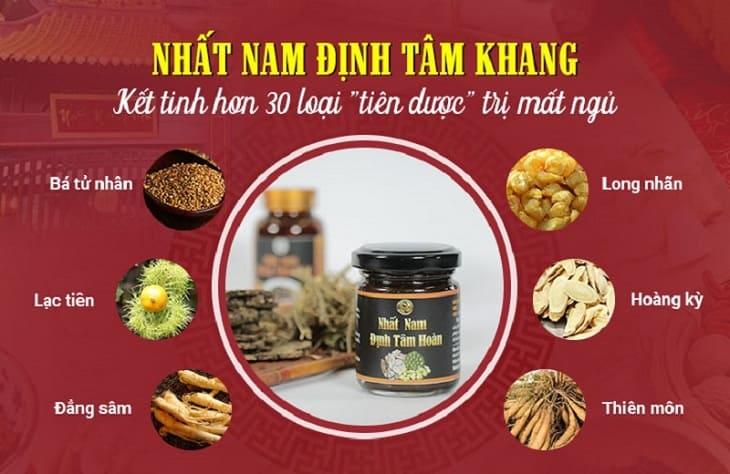 Nhất Nam Định Tâm Khang gồm gần 30 vị thuốc quý