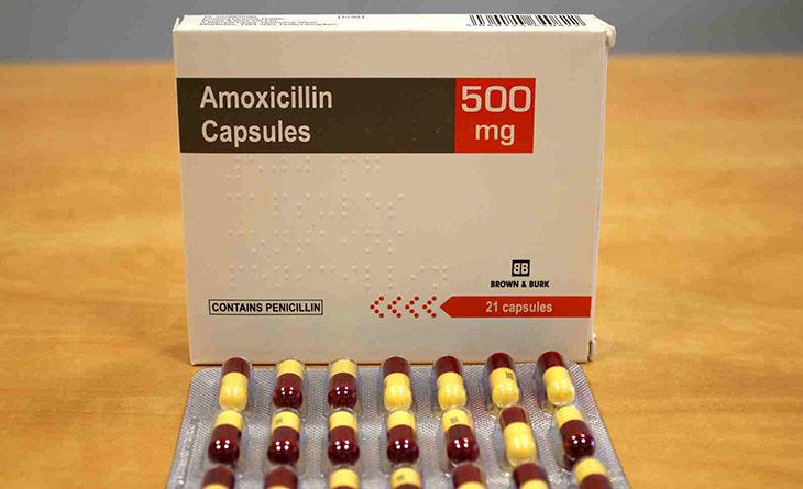 Amoxicillin dùng trong phác đồ 3 loại thuốc