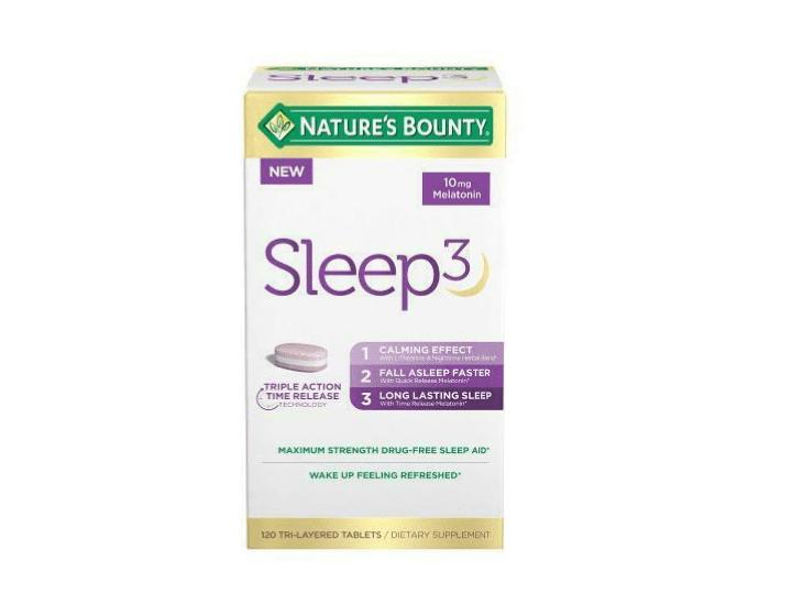Nature's Bounty Sleep 3 giảm mất ngủ hiệu quả