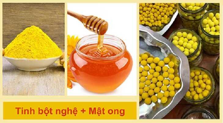 Nghệ khô nghiền bột kết hợp mật ong giúp chống axit trào ngược