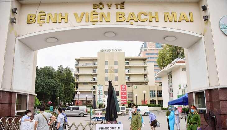 Hình ảnh bệnh viện Bạch Mai tại quận Hoàng Mai, Hà Nội