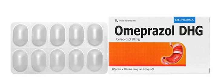 Thuốc chữa đau dạ dày Omeprazol DHG được bào chế dưới dạng viên nang