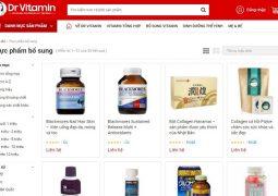 Website mua hàng tại siêu thị Dr Vitamin Việt Nam