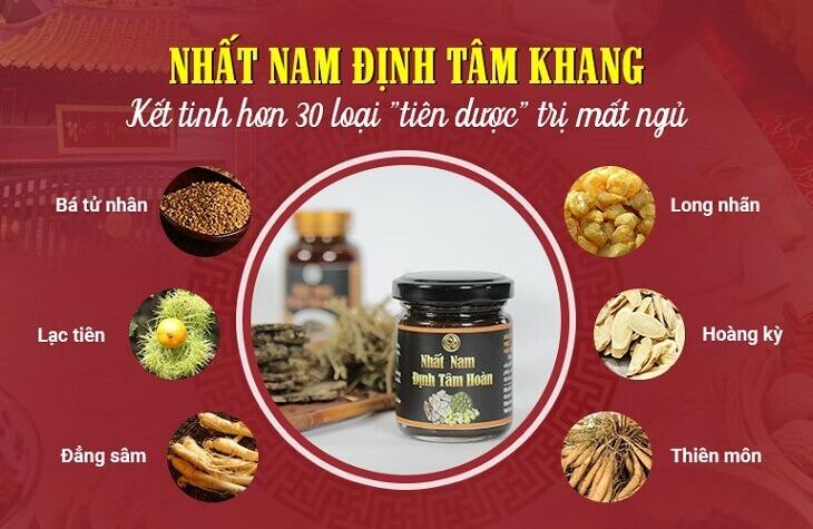 Thành phần dược liệu trong bài thuốc Nhất Nam Định Tâm Khang