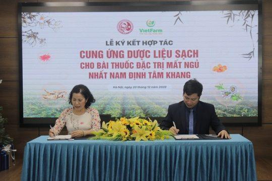 Lễ ký kết hợp tác: Cung ứng nguồn dược liệu sạch cho bài thuốc mất ngủ Nhất Nam Định Tâm Khang