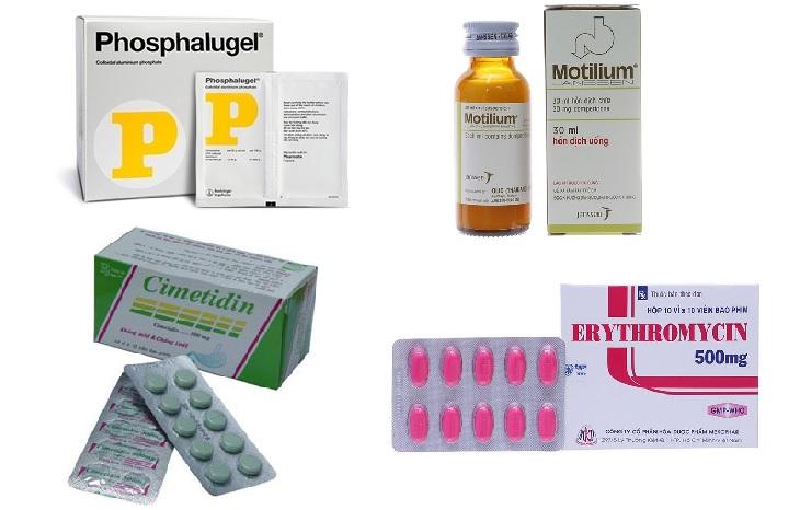 Một số loại thuốc được dùng trong các phác đồ điều trị trào ngược
