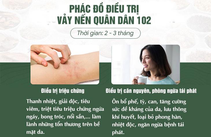 Phác dồ điều trị vảy nến Quân dân 102