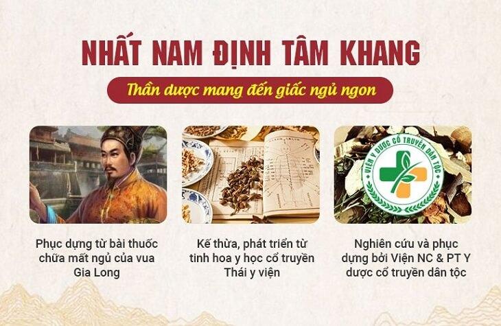 Nhất Nam Định Tâm Khang là bài thuốc kết tinh đầy đủ tinh hoa y học cổ truyền dân tộc