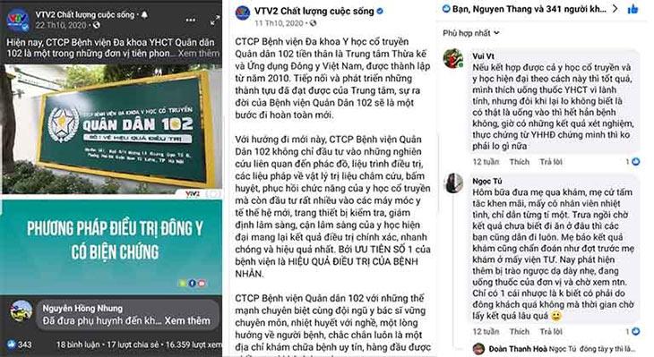 Chương trình VTV2 đưa tin giới thiệu phương pháp Đông y có biện chứng