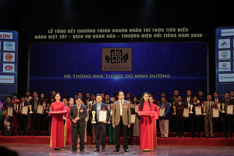 Nhà thuốc Đỗ Minh nhận danh hiệu uy tín 2020