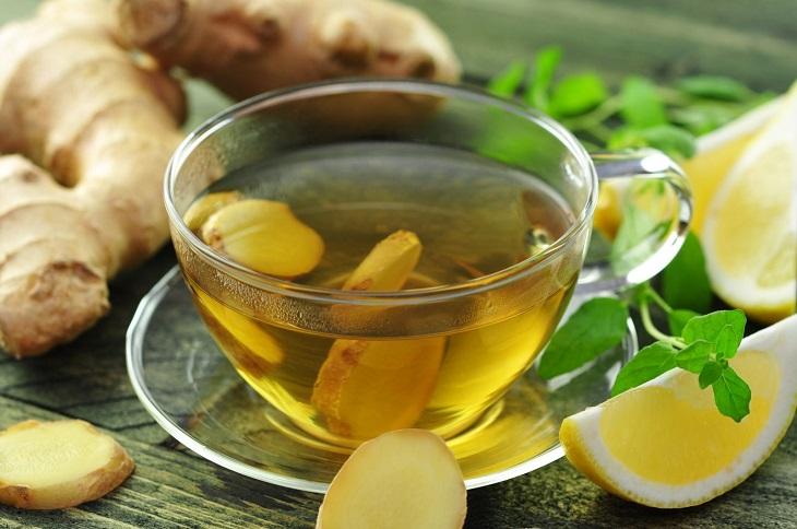 Trà gừng giúp sát khuẩn, tiêu viêm, cải thiện triệu chứng trào ngược dạ dày