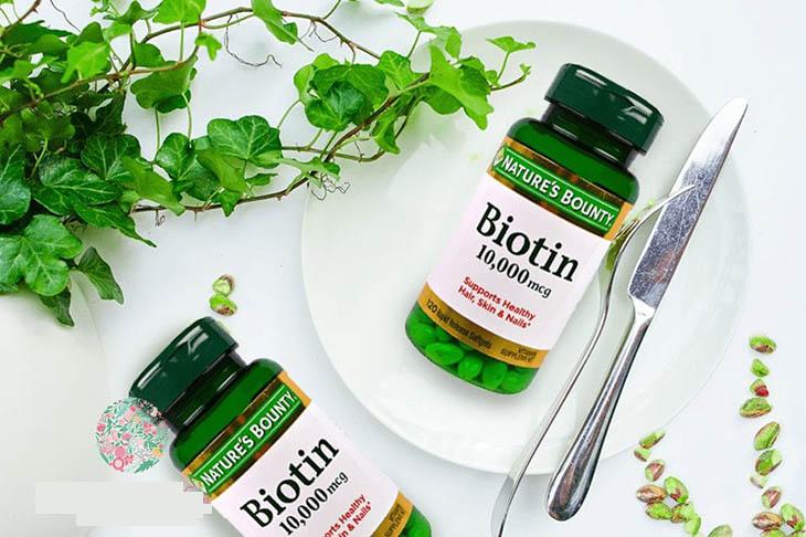 Viên uống Nature's Bounty Biotin 10 000 mcg an toàn cho sức khỏe