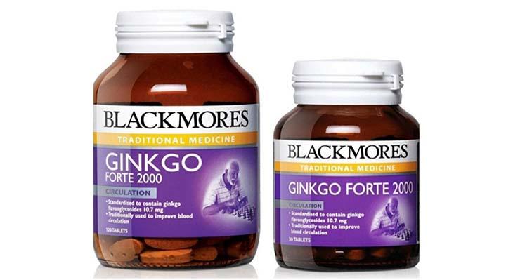 Blackmores Ginkgoforte có 2 loại 30 viên và 120 viên