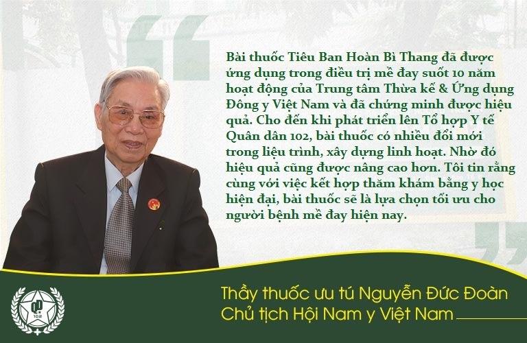 Thầy thuốc Nguyễn Đức Đoàn đánh giá cao bài thuốc Tiêu ban hoàn bì thang