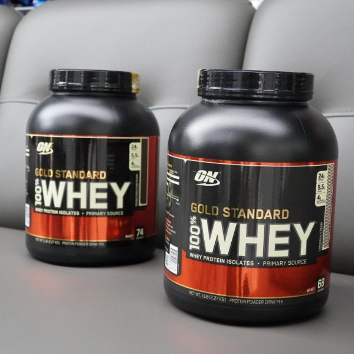 Bao bì sản phẩm sữa thể hìnhGold Standard Whey Protein