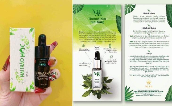 Tác dụng chính của sản phẩm là trị mụn mờ thâm và căng da