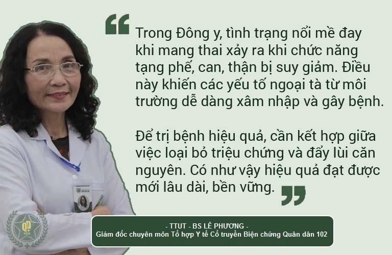 Bác sĩ Lê Phương giải thích cơ chế điều trị mề đay khi mang thai